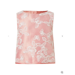 John Lewis & Partners Heirloom Collection Girls Butterfly Organza Top 7 years