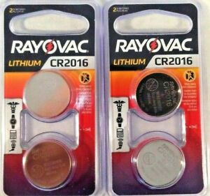 2 Rayovac 2-Pack CR2016 Size 3-V Coin Cell Lithium Battery 3V Button 4 batteries