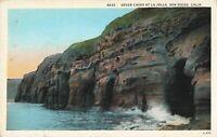 Postcard Seven Caves at La Jolla San Diego California