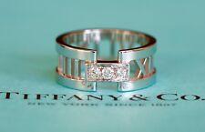 Tiffany Atlas Diamond White Gold Full Eternity Wedding Band Ring £2k Sz 6 UK L.5