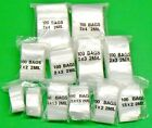 1200 Bags Assorted 2mil Clear Reclosable Assortment 6 Sizes 200each - 1x1 To 3x4