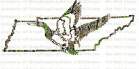 Camouflage Camo Tennessee Duck Hunter Hunting Vinyl Decal Sticker Fowl Drakes