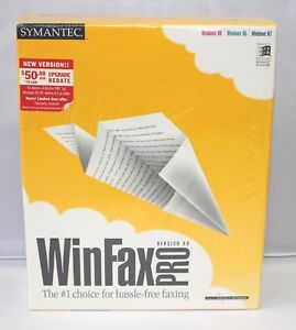 Symantec WinFax Pro 9.0 Windows 98 Windows 95 Windows NT CD Factory SEALED