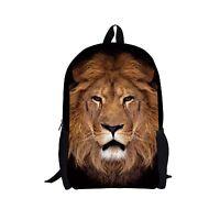 Animal mochilas Women School Bags Boys Mens Kids Lion Backpack Shoulder Bookbags