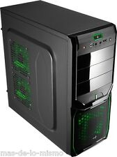 Caja Semi Torre ATX Aerocool V3X Advance Evil Green Edition USB 3.0 Venti. 12cm
