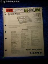 Sony Service Manual MZ R90 /R91 Mini Disc Recorder  (#4339)