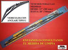 2  X ESCOBILLAS LIMPIA PARABRISAS METALICA COCHE FIAT PUNTO  DE 1999 HASTA 2005