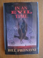 Bill Pronzini In An Evil Time 1st ed HC SIGNED Fine
