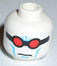 LEGO - Minifig, Head Glasses w/ Black Frames & Red Lenses Pattern (Mr. Freeze)