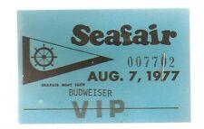 1977 Seafair Budweiser VIP Credentials #007702