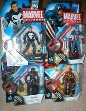 MARVEL UNIVERSE PUNISHER, SKRULL, CAPT, AMERICA, MORE