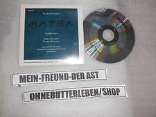 CD Jazz Vladimir Godar - Mater (2 Song) Promo ECM REC Bittova Valent