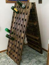 Wine Riddling Rack Wood A-Frame Wine Rack 120 Bottle Handmade