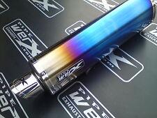 KTM 390 Duke 2013 + Coloured Titanium Oval Exhaust Can, Road Legal inc Baffle