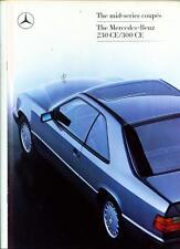 Mercedes benz 230 ce 300 ce (C124 type) sales brochure 1987