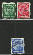 Germany 1933 King Friedrich the Great--Attractive Topical (398-400) fine used