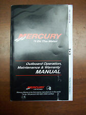 Mercury Marine Outboard Owner's Manual 4/5HP 2 Stroke  Part#90-10102010