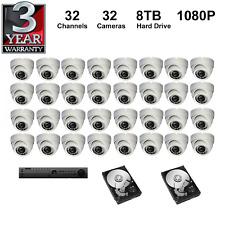 HD DVR Kit :3 2 Canaux + 8TB Disque Dure + 1080P Caméras, 3 Years Garantie