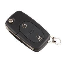 Audi A2 A3 A4 A6 A8 TT 2 Button Flip Remote Key Fob Case (CR1620 Battery)