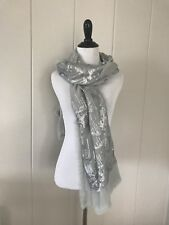 "Dries Von Noten Womens Scarf Sequin Scarf Green  72"" X 23.5"""