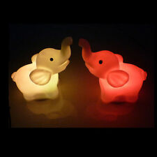 1Piece Home and Garden Decor 7 Colors Changing Elephant Shape LED Night Light