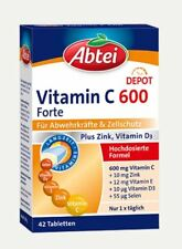 Abtei Vitamin C 600 Forte Plus Zink, Vitamin D3  42 St PZN 10916243