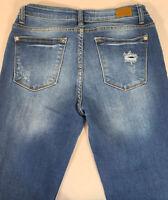 Judy Blue Jeans Sz 3/26 (26x26) Distressed Stretch Skinny Fit Denim High Rise