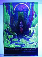 Vintage 1971 Blacklight Poster MARINER Boat Ship Rainbow Mini 17x11 NOS RARE