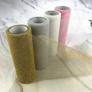 Glitter Organza Tulle Roll Spool Fabric Ribbon DIY Tutu Skirt Gift Craft Decor