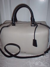 NWT Michael Kors Large Pebbled Leather Satchel Handbag Cement Black