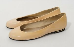French Sole New York FS/NY Blush Patent Leather Ballet Flats Shoes, Sz 5.5, NEW