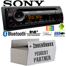 Autoradio Sony Bluetooth | DAB+ | CD/MP3/USB KFZ Einbauset für Peugeot Partner