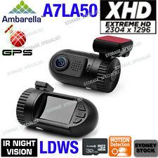 Ambarella Dash Camera A7LA50 1296P GPS log Car Dashcam XHD mini 0805 0803 Backup