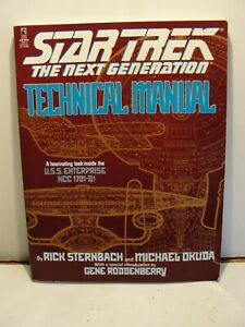 VINTAGE STAR TREK THE NEXT GENERATION TECHNICAL MANUAL***DATED 1991