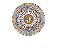 """Spanish Majolica Liso Plate 11"""" Diameter Spain, ceramic, pottery"""