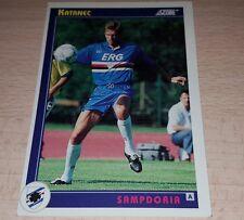 CARD SCORE 1993 SAMPDORIA KATANEC CALCIO FOOTBALL SOCCER ALBUM