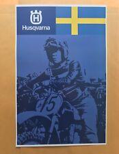 Vintage Motocross Husqvarna poster