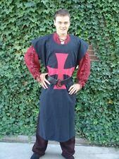Waffenrock Templer Sergant Wappenrock schwarz mit rotem Kreuz