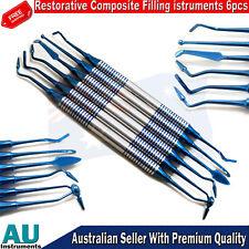 Restorative Dental Composite Filling Instrument Set Of 6pcs Blue Titanium Coated