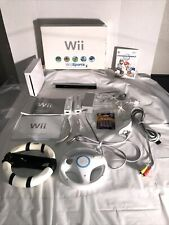 nintendo wii console sports bundle Tested Mario Cart Included 2 Controllers