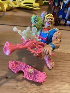 Vintage Toxic Crusaders Headbanger Action Figure Troma Playmates 1991 *COMPLETE*