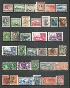 NEWFOUNDLAND VARIOUS MINT & USED   1880 to 1937          CV $93.05