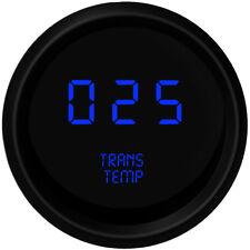 BLUE LED Digital Transmission Temperature Gauge Intellitronix Trans Black Bezel