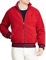 Polo Ralph Lauren Men's Faux Shearling Baseball Jacket - Size L