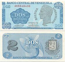 Venezuela 2 Bolivares 1989 UNC P-69