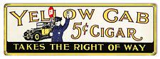 Yellow Cab Reproduction Cigar Metal Sign 6x18