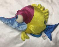 "Disney Finding Nemo SANITIZED 19"" Tad Butterfly Fish Plush Stuffed Animal A+"