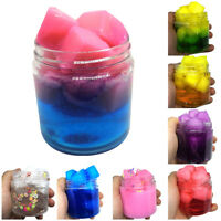 NE_ BU_ Jelly Cube Slime Crystal Mud Clay Putty Sludge Kids Stress Relief Toys E