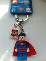 GENUINE LEGO SUPERMAN DC SUPERHEROES MINIFIGURE KEYRING KEYCHAIN 853952