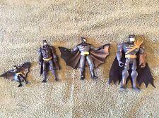 DC Comic Mattel  Lot of 4 Batman Action Figures Toys Various Sizes